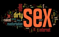 """This Wordle is based on responses to the question, """"What three words come to mind when you hear the word, """"pornography""""?"""