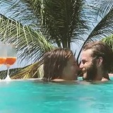 lovesurfsing & his sweetheart enjoy giggly cocktails in the pool
